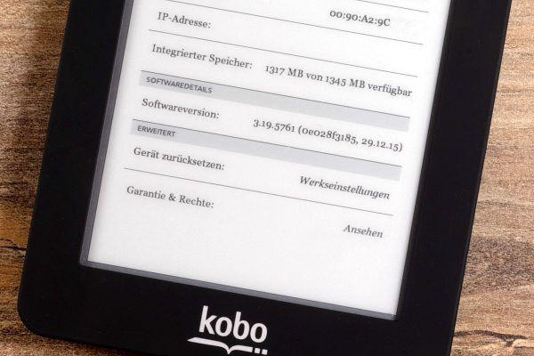 Kobo Mini mit Sicherheitsupdate, aber alter Versionsnummer