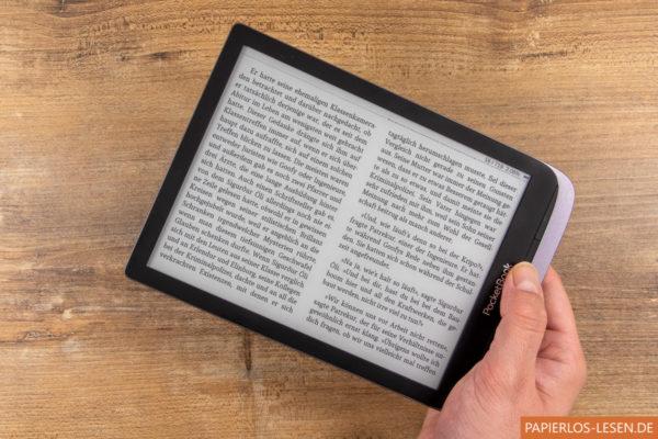 Zwei Spalten im Querformat mit dem Cool Reader auf dem Inkpad 3 Proauf dem I