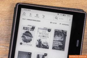 Firmware 5.12.3: Neue Markierung oberhalb der Bücher