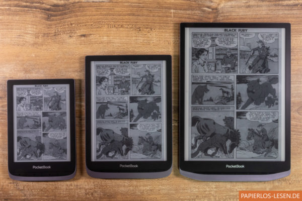 Comic-Vergleich Touch HD 3, Inkpad 3 Pro und Inkpad X