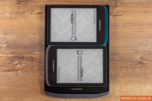 PocketBook Touch Lux 4 und Touch HD 3 passen fast genau auf dem Bildschirm des Inkpad X