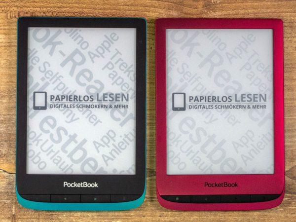 Vergleich Kontrastumfang: Touch Lux 4 (links), Touch Lux 5 (rechts)