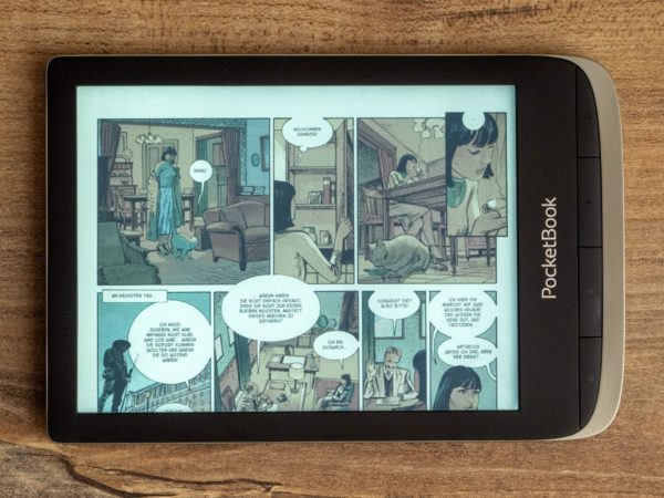 Comic mit abgeschnittenem Panel