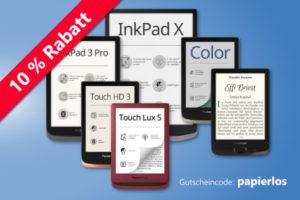 10 % Rabatt auf alle eBook-Reader von PocketBook
