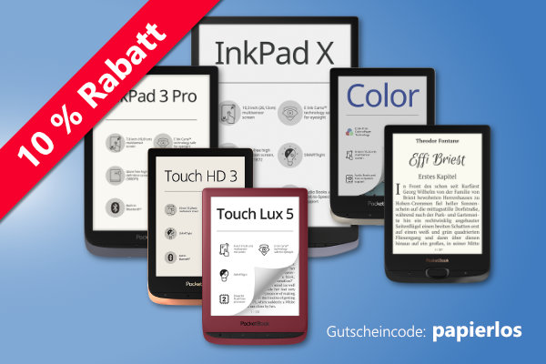 10 % Rabatt auf alle eBook-Reader von PocketBook