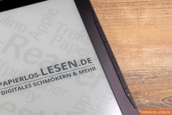 PocketBook Inkpad Lite: Die seitlichen Blättertasten