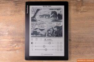 PocketBook Inkpad Lite: Helligkeitseinstellungen im Comic